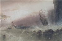 Lot 124-Henry Barlow Carter, Flamborough, watercolour