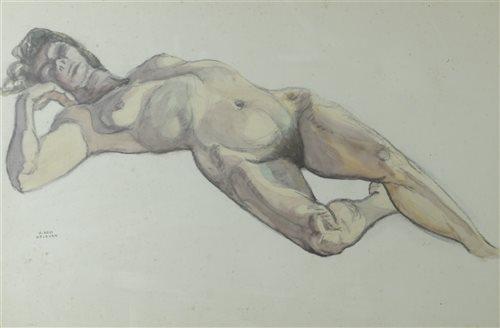 Lot 52-K. Ross, Welborn, reclining lady