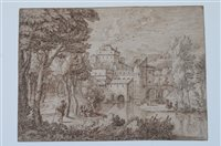 Lot 56-Attributed to Johannes Glaubber, pen and ink
