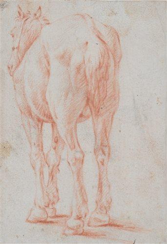 Lot 58 - Dutch school, 17th century, horse drawing