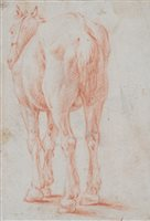 Lot 58-Dutch school, 17th century, horse drawing
