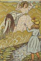 Lot 79-Lucien Pissarro, woodcut