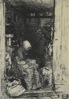 Lot 83-Whistler etching