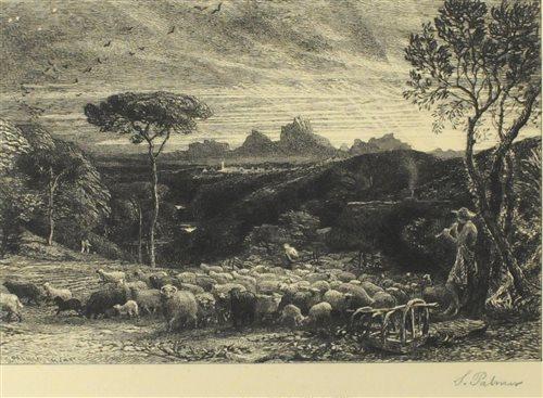 Lot 95-Samuel Palmer, etching