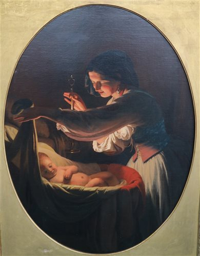 Lot 48-S Bollini, oil on canvas