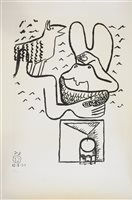 Lot 14-Le Corbusier, nude with goat
