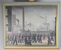 Lot 58-British school, Manchester city scene