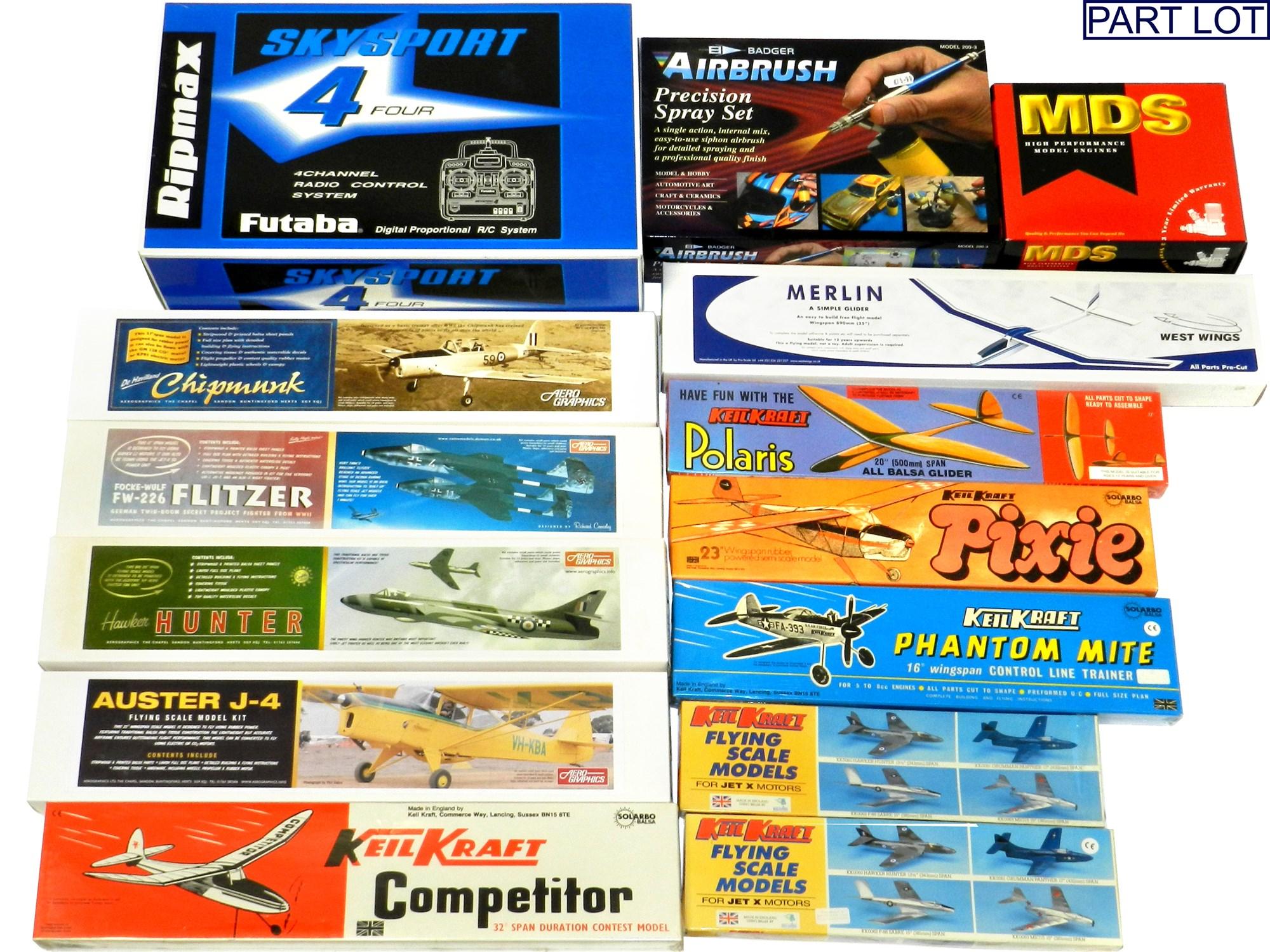 Lot 330 16 Vintage Keilkraft Model Aircraft Kits