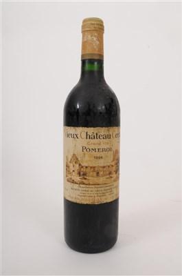 Lot 20-Vieux Chateau Certan 1994 Pomerol 1 bottle 96/100 ...