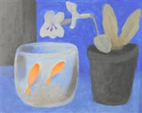 Lot 50-Rachel Windham, fish and flowers