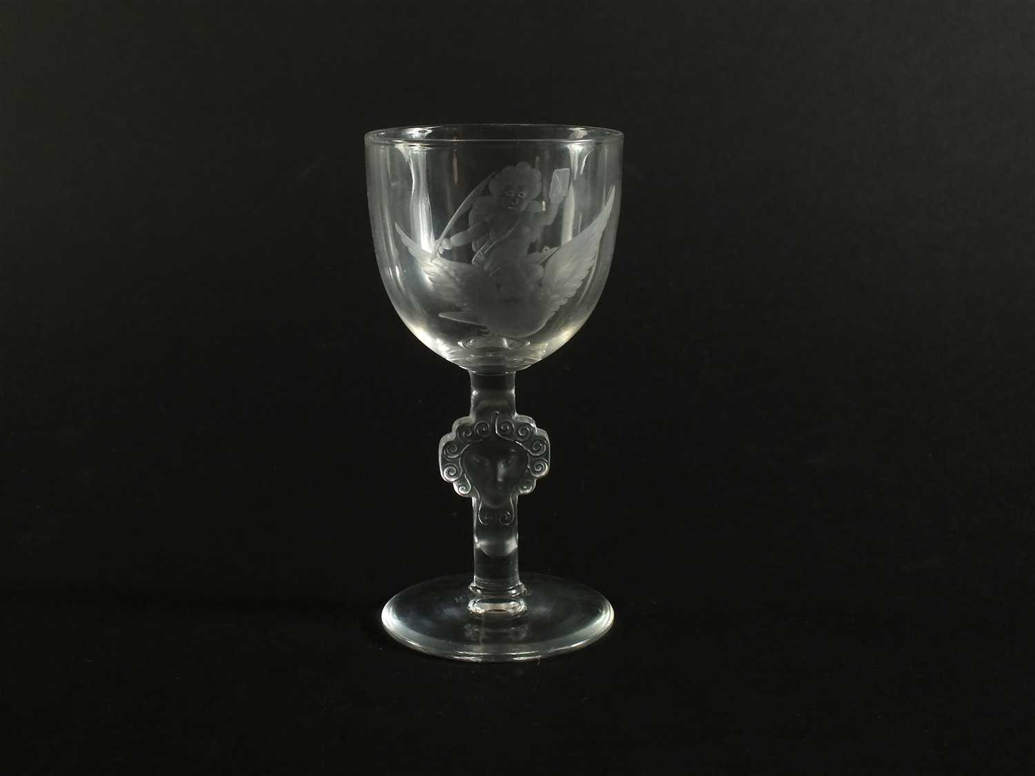 Lot 131 - An Art Deco René Lalique wine glass