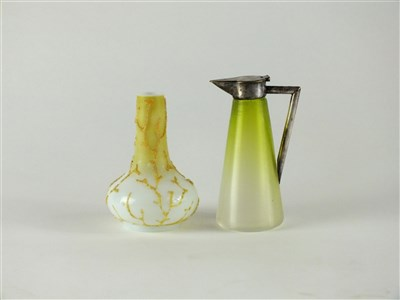 Lot 122-A Thomas Webb Coralene vase and Hukin and Heath jug