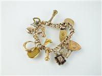 Lot 146-A charm bracelet