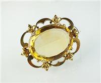 Lot 159-A Victorian citrine brooch
