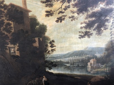 Lot 144-Old Master landscape, oil on canvas