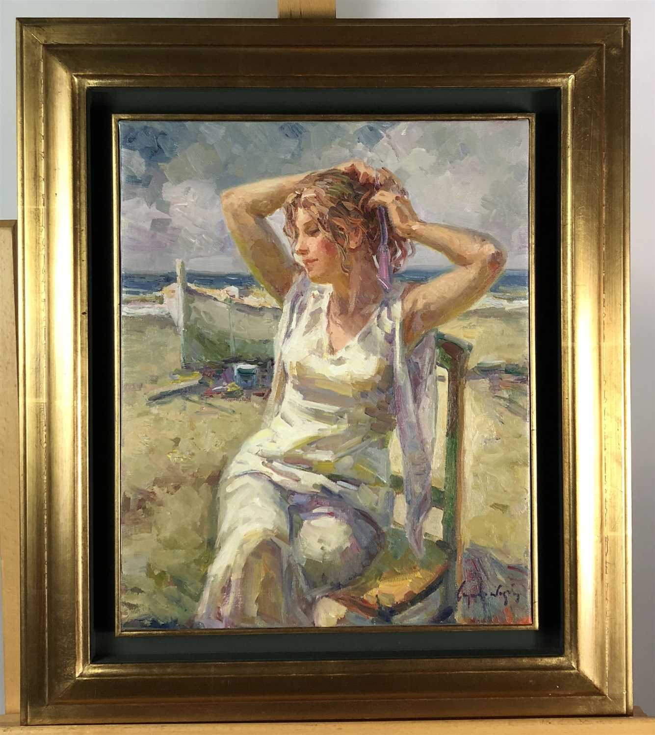 Lot 80-Ricardo Cejudo Nogales, study of a young girl