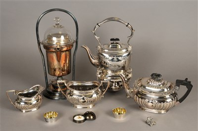 Lot 61-A collection of silver plated wares