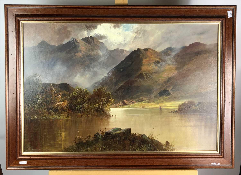 Lot 92-A pair of oil landscapes