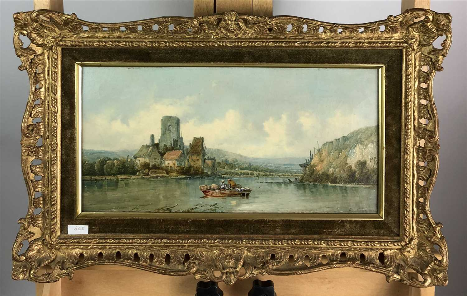 Lot 96-Alfred H. Vickers, continental river scene
