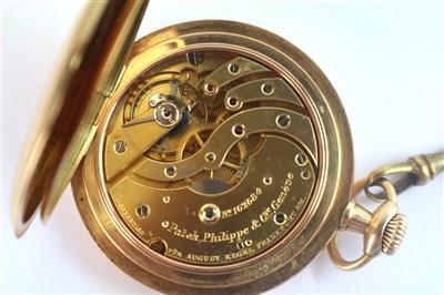 Lot 361-A 14ct Gold Patek Philippe Hunter Pocket Watch