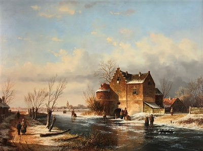 Lot 104-De Vries, winter scene