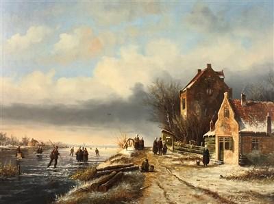Lot 109-De Vries, canal scene