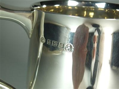 Lot 46-A commemorative silver Jubilee mug
