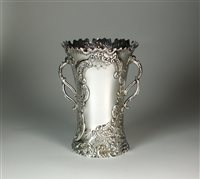 Lot 25-A large two handled silver vase