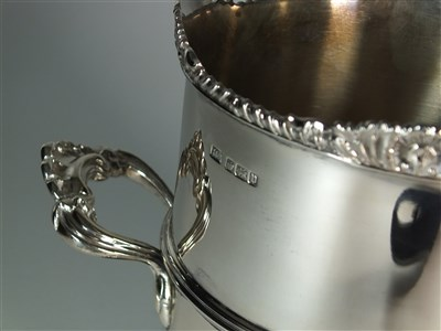 Lot 22-A tall silver wine coaster