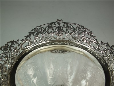 Lot 123-A silver mounted rock crystal bowl