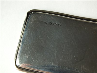 Lot 93-A silver double stamp case
