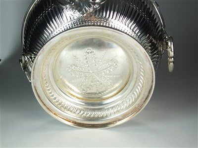 Lot 115-A Victorian silver monteith punch bowl