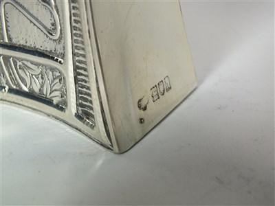 Lot 109 - An Art Nouveau silver cased timepiece