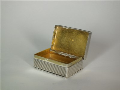 Lot 124-An engine turned silver pill box