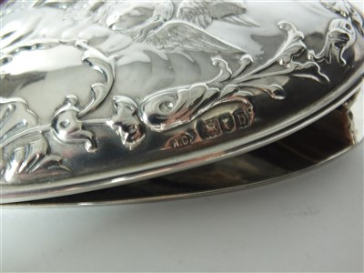 Lot 37-A Victorian heart shaped silver clip