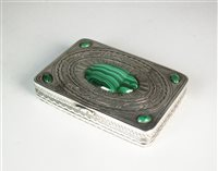Lot 62-A silver and malachite box