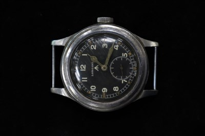Lot 201-A Gentleman's Longines Military Wristwatch