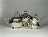 Lot 108-A Victorian silver teapot and sugar bowl