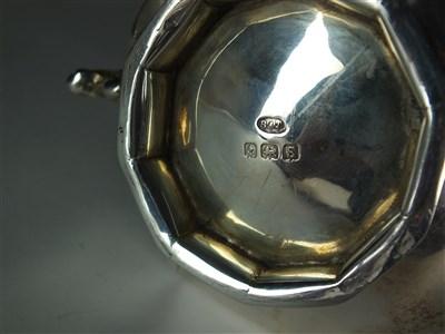 Lot 108-A Victorian silver teapot and sugar bowl