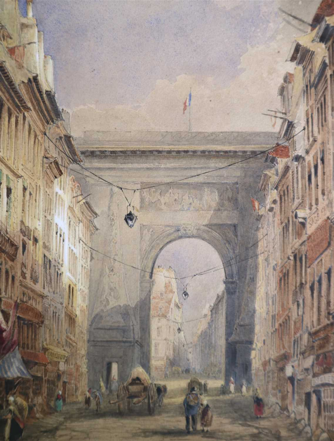 149 - Thomas Shotter Boyes (1803-1874), Porte Saint Denis, Paris
