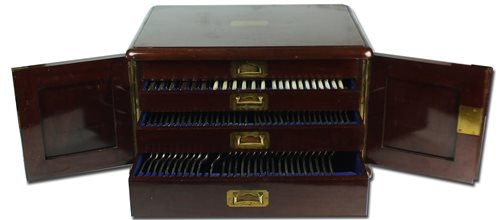 Lot 100-A canteen of silver plated cutlery