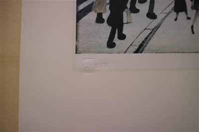 Lot 92 - Laurence Stephen Lowry, The Crossing, Signed Print