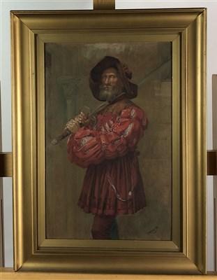 Lot 101-Tudor man watercolour