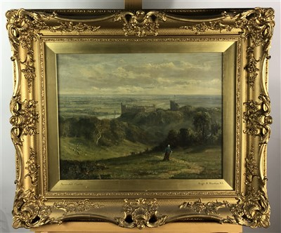 Lot 103-Hugh H Stanton, Arundel Castle oil