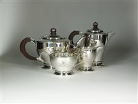 Lot 1-A four piece silver tea service