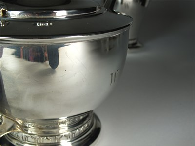 Lot 1 - A four piece silver tea service