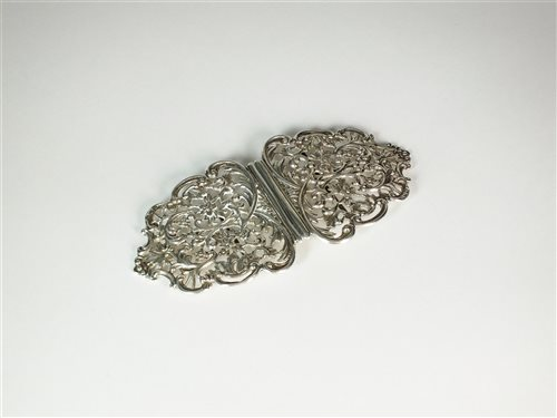 Lot 3-A Victorian silver nurses buckle