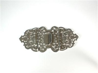 Lot 3-A Victorian silver nurses buckle
