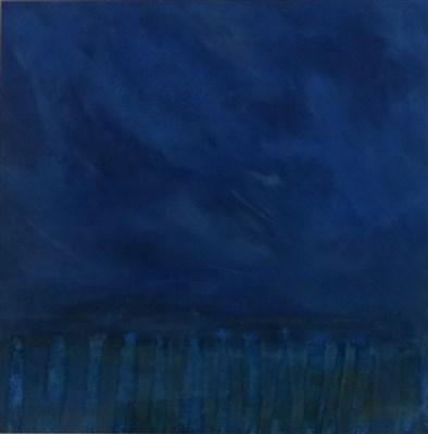 Lot 26-David Greenall (b.1947), Abstract- 'Stripped Landscape: Blue'