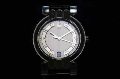 Lot 247-A Gentleman's 18ct White Gold Harry Winston Premier Wristwatch
